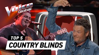 BEST COUNTRY BLIND AUDITIONS in The Voice