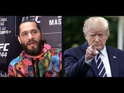 Jorge Masvidal praises President Donald Trump saying he's a BMF  (UFC 244)