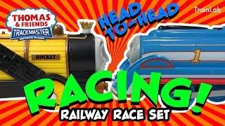 TrackMaster Railway Race Set   Fun train toys for kids videos on the TrainLab! Thomas Tank James