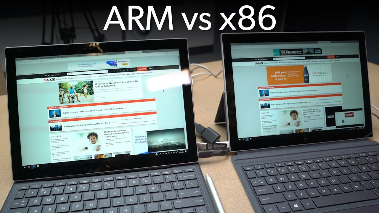x86 vs  ARM: Two identical tablets fight it out for Windows 10 supremacy