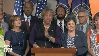 Rep. Nancy Pelosi, House Democrats address President Trump's tweets