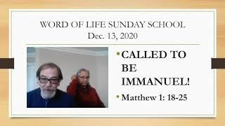 Called to be Immanuel