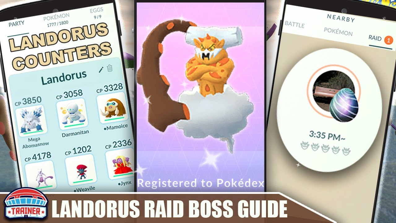 THE SHINY *LANDORUS* COUNTER GUIDE! 100 IVs, MOVESET & WEAKNESS - INCARNATE RAID BOSS | Pokémon Go