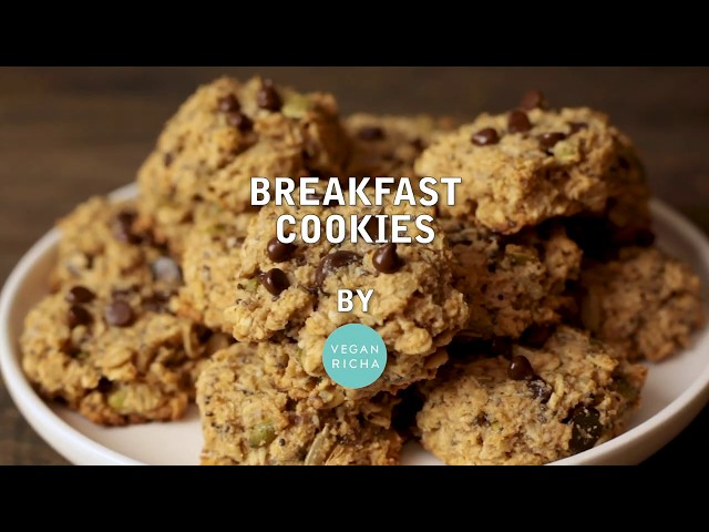 VEGAN BREAKFAST COOKIES - Gluten-Free No Oil | Vegan Richa Recipes