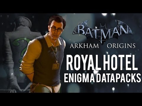 Batman Arkham Origins - Royal Hotel - All Enigma Datapacks / Extortion Files Locations
