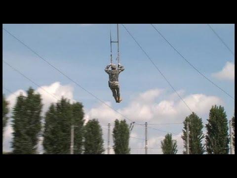 Airborne Brigade Jump Training - Parachute Landing Fall (PLF)