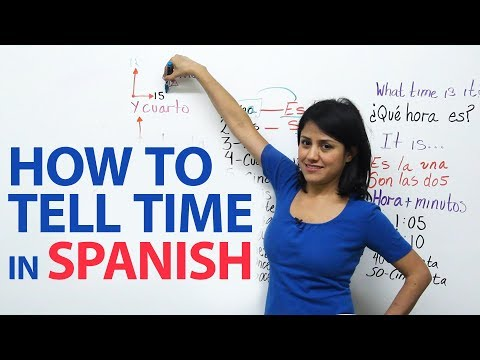 How to say its time to go in spanish