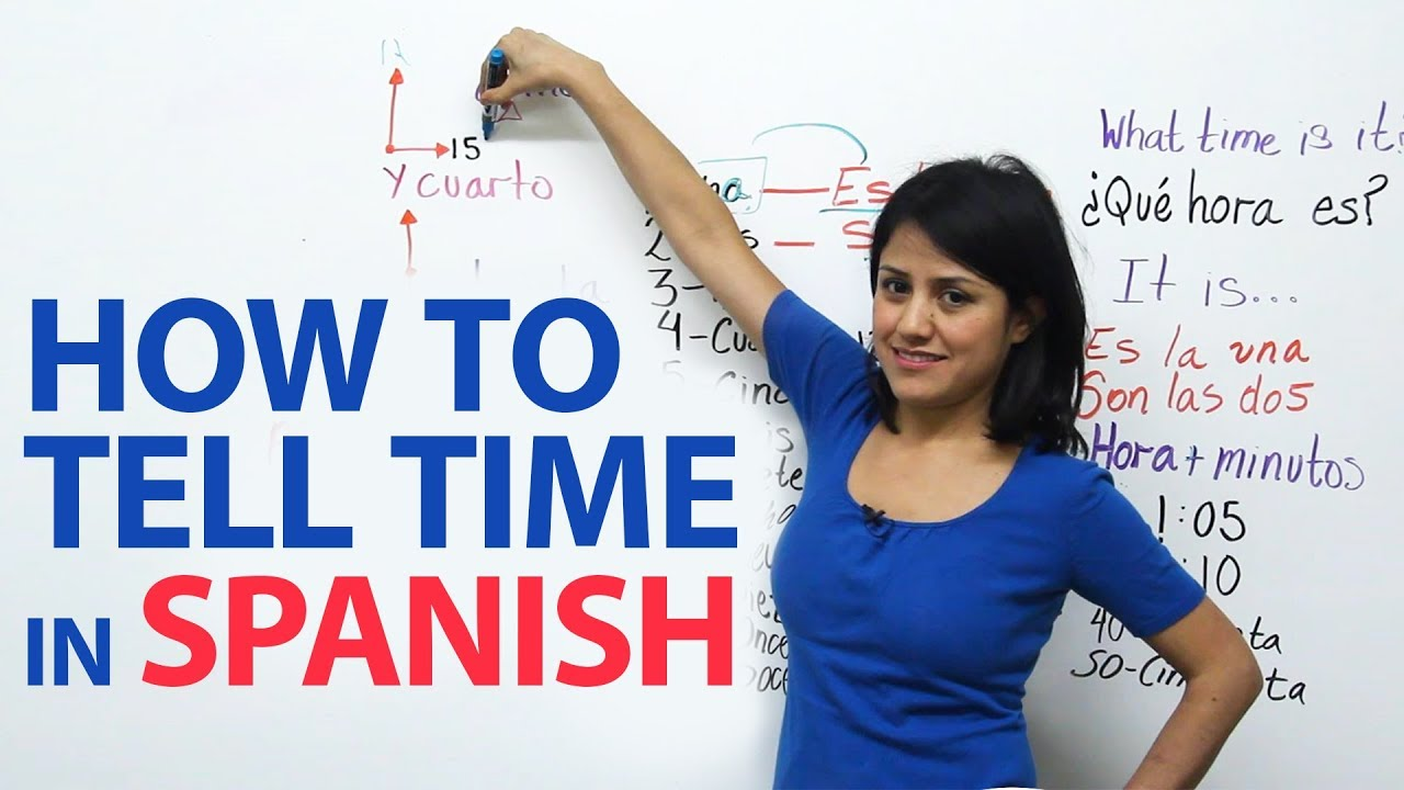 How to tell time in Spanish