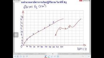 #กราฟอัตราการเกิดปฏิกิริยา