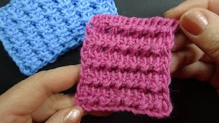 Тунисский узор вязания Tunisian crochet  25