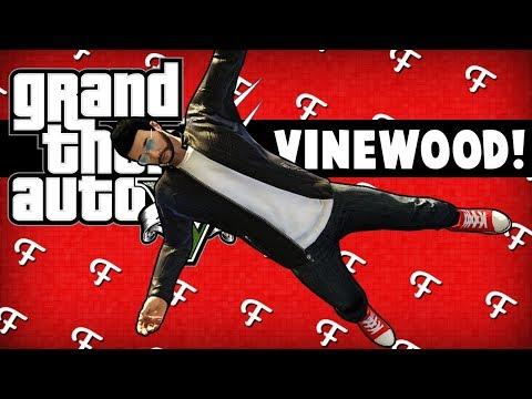 GTA 5: Inside Character Glitch, Jumping Vinewood Sign Platforms, Mugger Fails (Online Comedy Gaming)