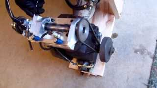 Homemade 4 Stroke Rotary Valve Engine Run 2