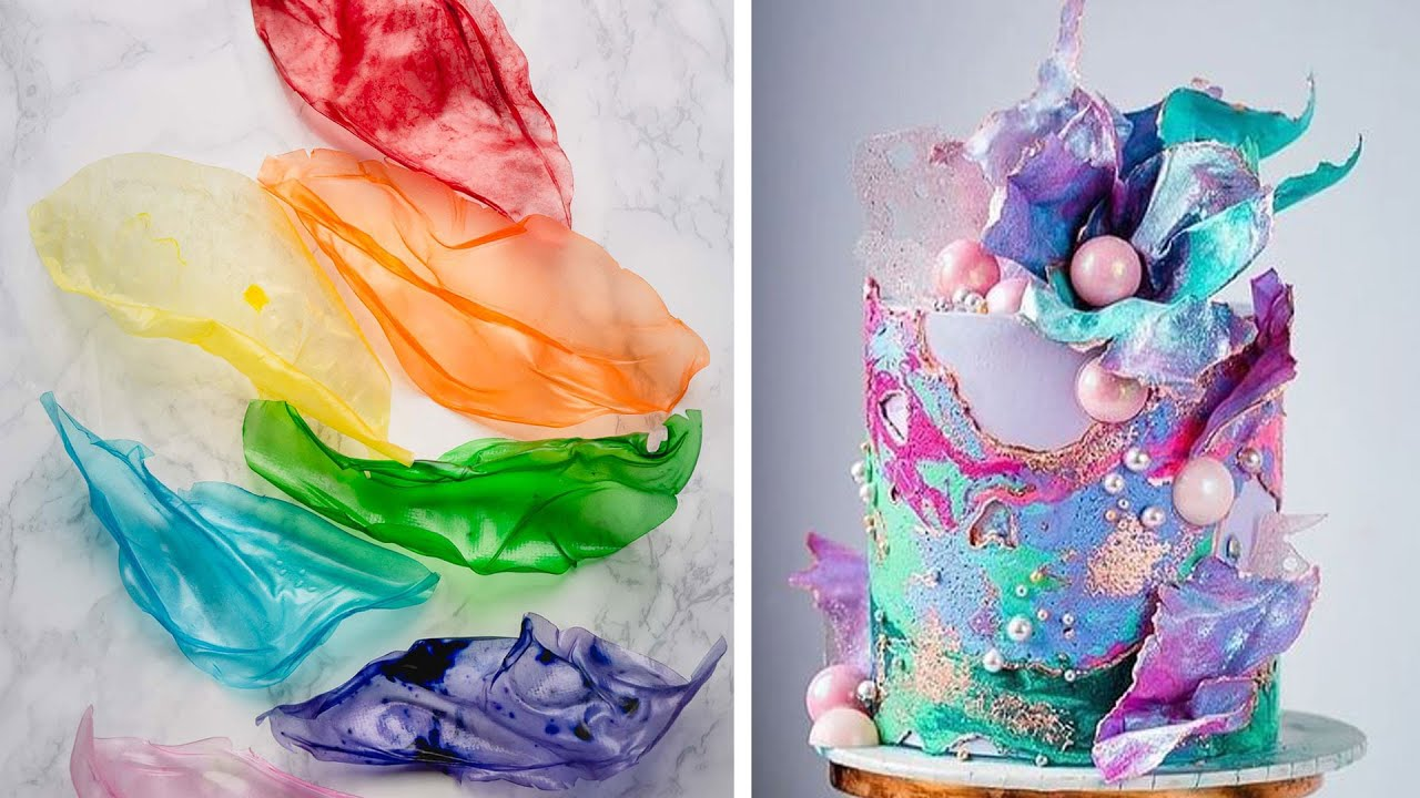 How To Make Cake Decorating With Rice Paper   More Amazing Colorful Cake Decorating Compilation