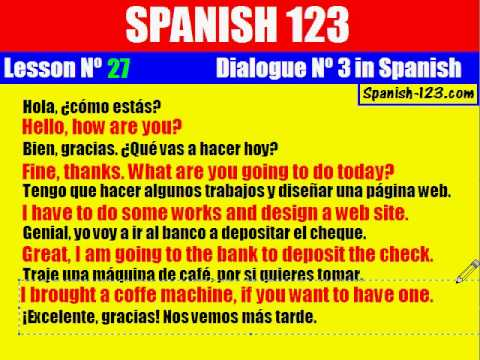 how to write a conversation in spanish