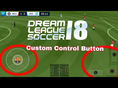 How To Change Control Button In Dream League Soccer 2018!!