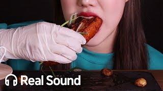 에어프라이어 통삼겹살 구이 비빔면 리얼사운드 먹방 Roasted Pork belly u0026 Bibimmyeon Mukbang Real Sound [Foodeat]
