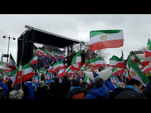 Iranians Protest in Paris for a Free Iran - Feb 8