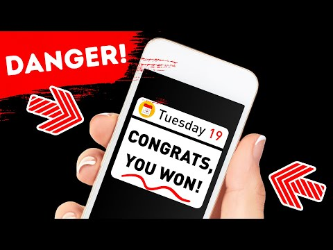 If You Get a Winning Message, Delete It Without Opening!