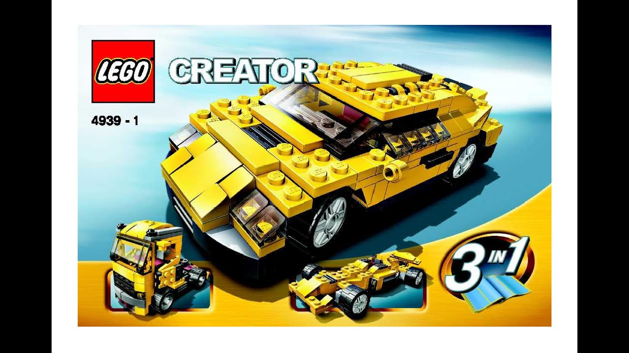 lego creator cool cars 4939 instructions diy book 1 youtube. Black Bedroom Furniture Sets. Home Design Ideas