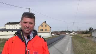 Statens vegvesen - nå lukter det asfalt på Smøla
