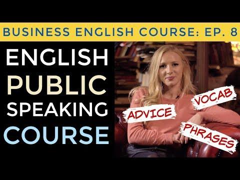 Presentation Phrases & Public Speaking Advice | Business English Course Lesson 8