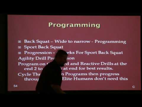Transfer of Speed Performance Presentation cal dietz Video Part 2