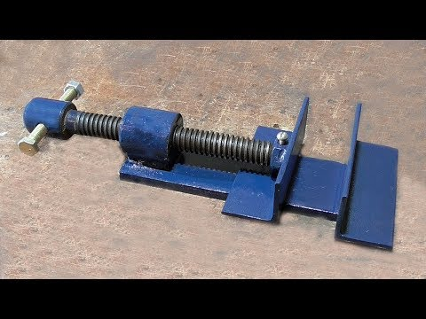Make A Metal Mini Drill Vise | DIY HomeMade Tool