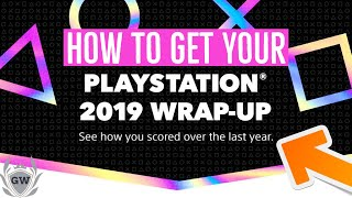 How to get your PlayStation 2019 wrap up! & Get free playstation dynamic theme !