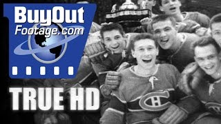 HD Historic Stock Footage CANADIAN JUNIOR HOCKEY CHAMPS 1950