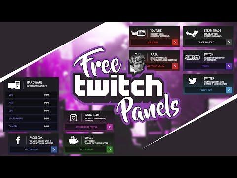 Free Twitch Panels psd