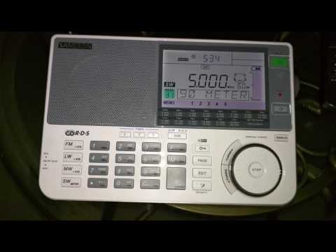 WWV Universal Time Colorado 5000 KHZ - Sangean ATS 909 X -  05:33 UTC