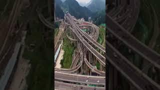 L'un des échangeurs les plus complexes de la Chine