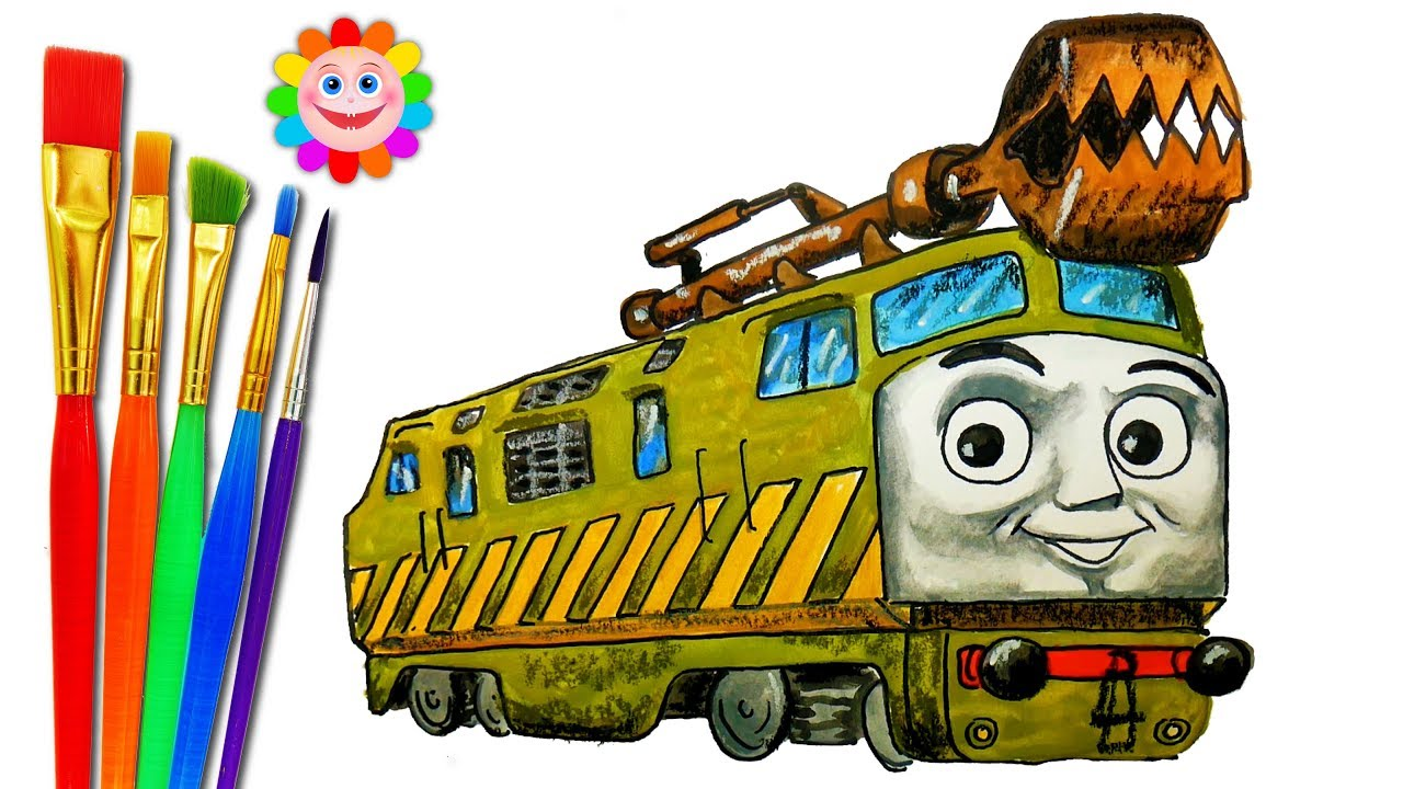 How to DRAW Train Thomas and Friends TRAINS Video for KIDS Coloring ...