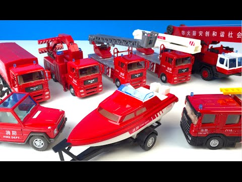 FIRE DEPARTMENT PLAYSET - DIECAST FIRETRUCK OR TANK ENGINE - LADDER TRUCK TOYS FOR KIDS