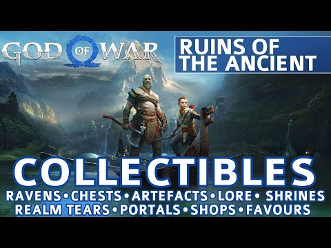 God of War - Ruins of the Ancient All Collectible Locations (Purple Language Cipher Chest) - 100%