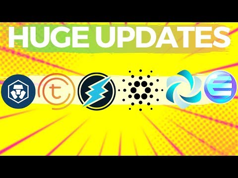 Huge Updates From Top Altcoins! MCO, Cardano, HPB, Electroneum, Enjin!