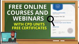 Free Online Courses and Webinars with CPD Units (Tutorial)