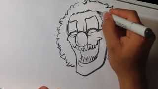 Drawing a Scary Clown - Halloween Drawings