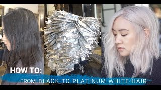 HOW TO: FROM BLACK TO PLATINUM BLONDE HAIR TRANSFORMATION (full foil technique)