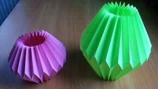 видео Как сделать вазу из бумаги
