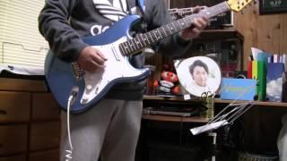 「青春ブギ」嵐ギターで少しだけ弾いてみました。