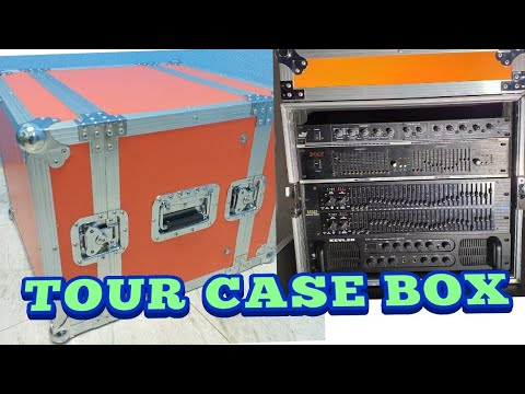 ASSEMBLING TOUR  CASE  BOX FOR POWER AMP AND EQUALIZER.