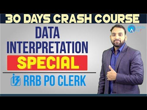 100 QUESTION PDF FREE  | RRB PO/CLERK | Data Interpretation Special | Arun Sir | 6 P.M.