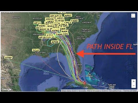 """Hurricane Irma & Jose Updates, Latest Models """"Irma Runs Thru Panhandle"""""""