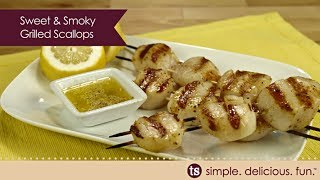 Sweet & Smoky Grilled Scallops