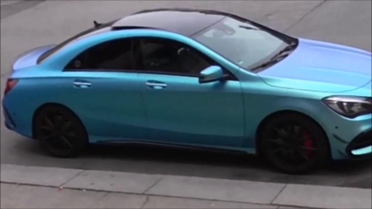 Crazy ride in Mercedes CLA 45 AMG Blue