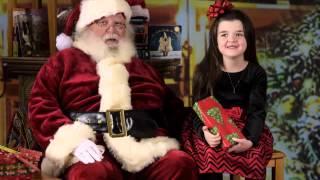 Arkansas Photographer - Madison and Skylar with Santa