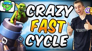 FASTEST MORTAR CYCLE DECK I'VE EVER PLAYED! — Clash Royale