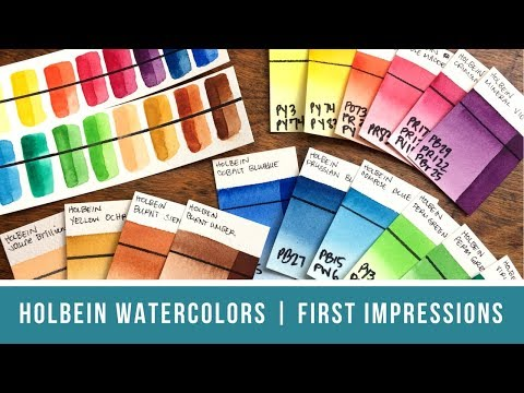 Holbein Watercolors (Set of 18) | First Impressions Review & Vegan Paint Discussion