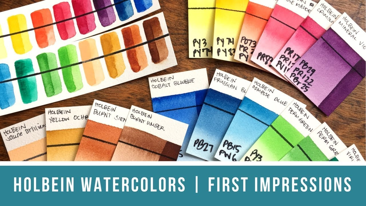 Holbein Watercolors Set Of 18 First Impressions Review Vegan